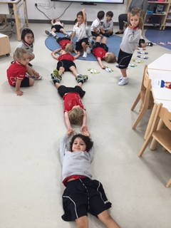 Measuring our classroom with our bodies